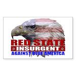 Red State Insurgent T-shirts Sticker (Rectangular