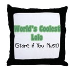 World's Coolest Lolo Throw Pillow