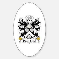 Dewi Sant (Saint David) Oval Decal