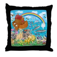 Noah's Ark Animal Throw Pillow