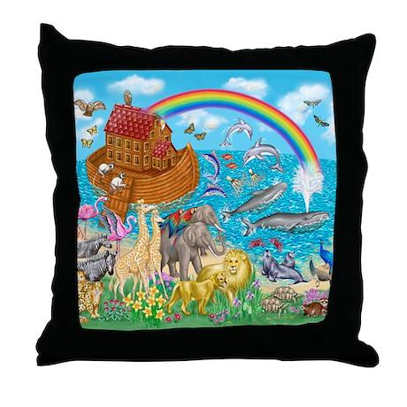 Noah's Ark Animal Throw Pillow
