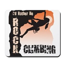 Women's Rock Climbing Mousepad