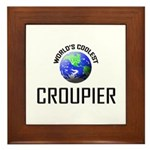 World's Coolest CROUPIER Framed Tile