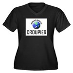 World's Coolest CROUPIER Women's Plus Size V-Neck