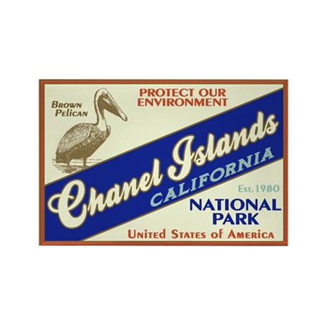 Channel Islands (Pelican) Rectangle Magnet