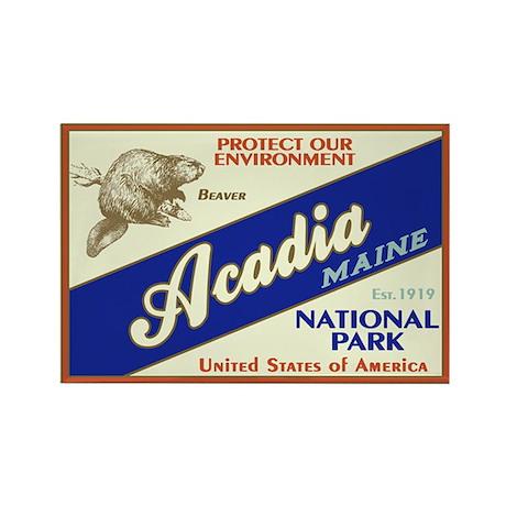 Acadia (Beaver) Rectangle Magnet