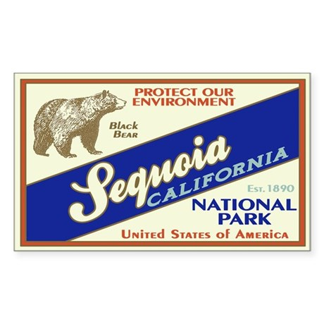 Sequoia (Black Bear) Rectangle Sticker