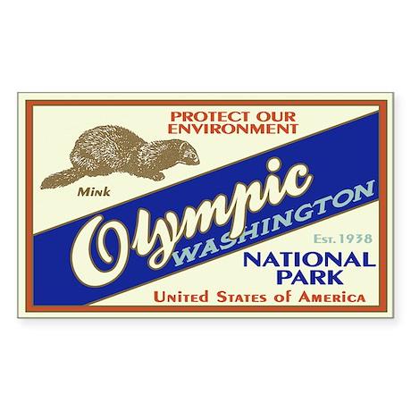 Olympic (Mink) Rectangle Sticker
