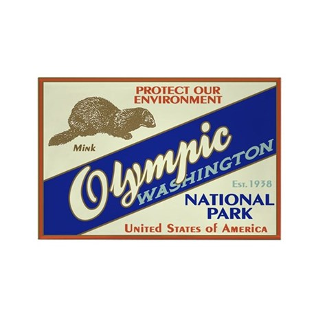 Olympic (Mink) Rectangle Magnet