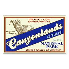 Canyonlands (Bighorn) Rectangle Decal