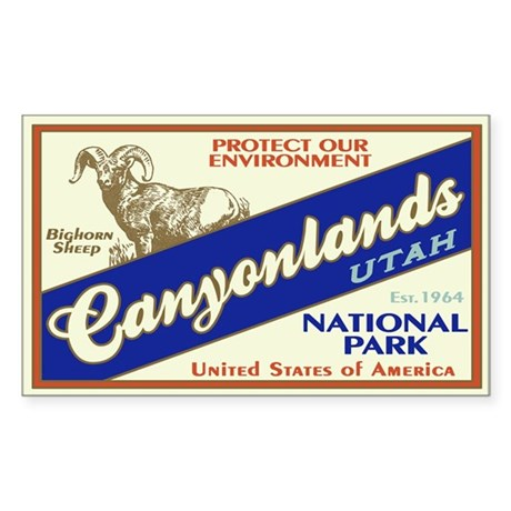 Canyonlands (Bighorn) Rectangle Sticker