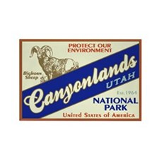Canyonlands (Bighorn) Rectangle Magnet