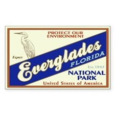 Everglades (Egret) Rectangle Decal