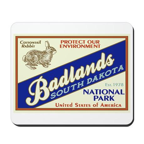Badlands (Rabbit) Mousepad