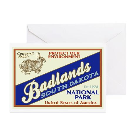 Badlands (Rabbit) Greeting Cards (Pk of 10)