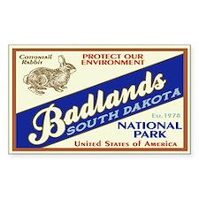 Badlands (Rabbit) Rectangle Decal