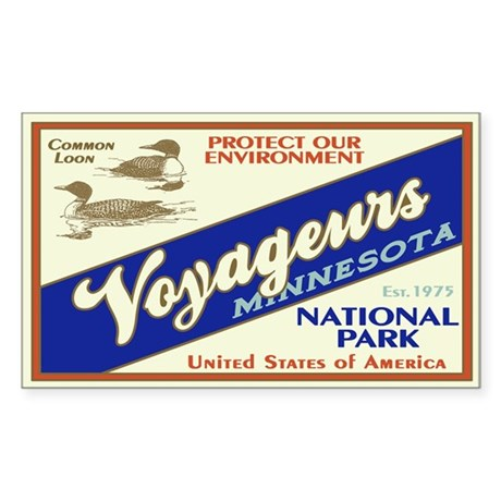 Voyageurs (Loons) Rectangle Sticker