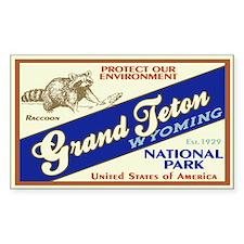 Grand Teton (Raccoon) Rectangle Decal