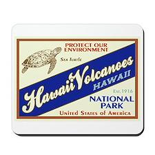 Hawaii Volcanoes (Turtle) Mousepad