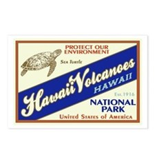 Hawaii Volcanoes (Turtle) Postcards (Package of 8)