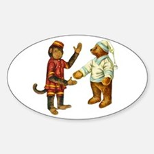 MONKEY & BEAR Sticker (Oval)