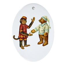 MONKEY & BEAR Ornament (Oval)