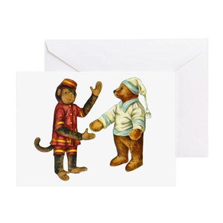 MONKEY & BEAR Greeting Card