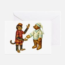 MONKEY & BEAR Greeting Card