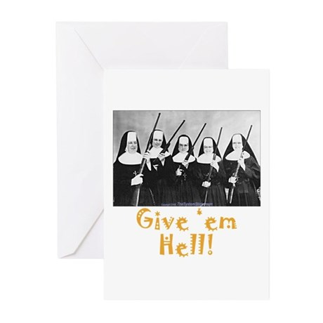 Give 'em Hell Greeting Cards (Pk of 10)