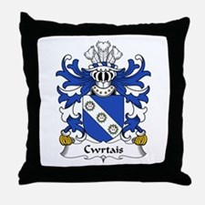 Cwrtais (Courteys, Curthoyse, Curtis) Throw Pillow
