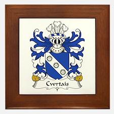 Cwrtais (Courteys, Curthoyse, Curtis) Framed Tile