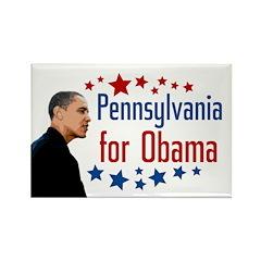 Pennsylvania for Obama Star Magnet