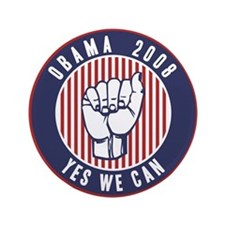 "Obama Yes We Can 3.5"" Button"
