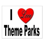 I Love Theme Parks Small Poster