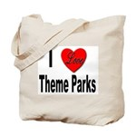 I Love Theme Parks Tote Bag