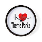 I Love Theme Parks Wall Clock