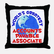 World's Greatest Accou.. (E) Throw Pillow
