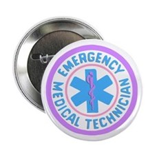 "EMT Logo Pastel 2.25"" Button"