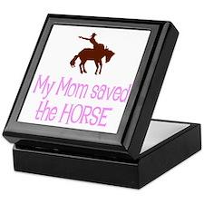 Mom saved the horse - girl Keepsake Box