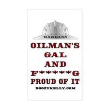 Oilman's Gal Rectangle Decal
