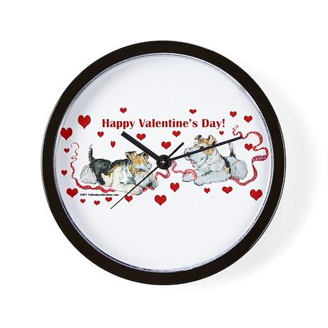 Fox Terrier Holiday Wall Clock