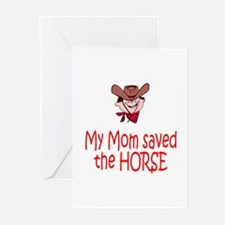 Mom saved the horse - boy Greeting Cards (Pk of 20