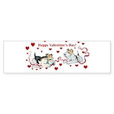 Fox Terrier Holiday Bumper Bumper Sticker