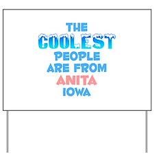 Coolest: Anita, IA Yard Sign