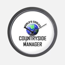 World's Coolest COUNTRYSIDE MANAGER Wall Clock