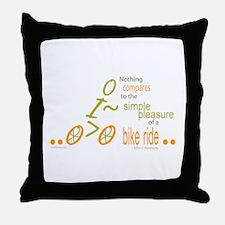 Biking Pleasure Throw Pillow
