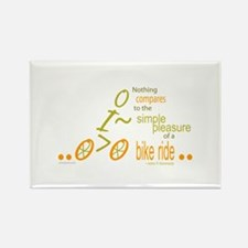 Biking Pleasure Rectangle Magnet (10 pack)