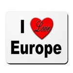 I Love Europe Mousepad