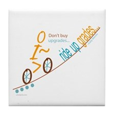 Bike up grades Tile Coaster