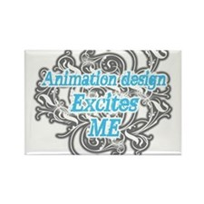 animation design excites me Rectangle Magnet